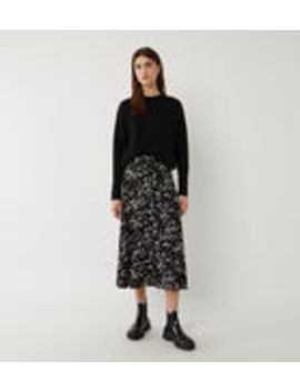 Daisy Print Belted Midi Skirt by Warehouse