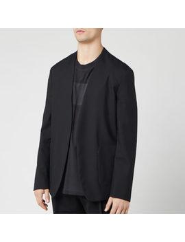Maison Margiela Men's Collarless Suit Jacket   Black by Maison Margiela