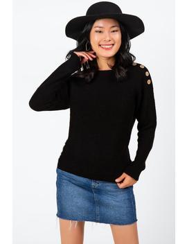 Adena Button Shoulder Sweater by Francesca's