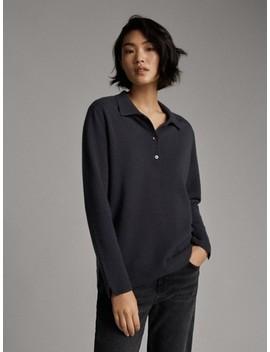 Sweter Polo Ze 100% Kaszmiru by Massimo Dutti