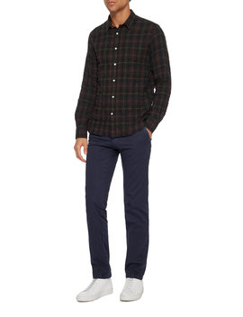 Crinkled Checked Cotton Poplin Shirt by Officine Générale