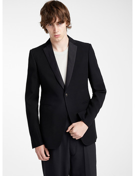 Textured Tuxedo Jacket by Rick Owens