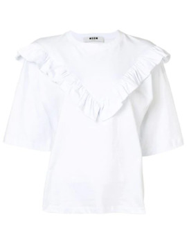 Ruffle Detail T Shirt by Msgm