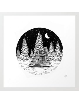 Winter Night Art Print by Society6