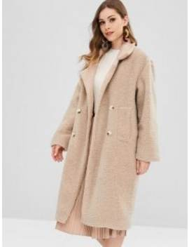 Hot Faux Fur Fluffy Textured Winter Teddy Coat   Camel Brown by Zaful