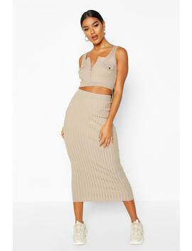 Rib Knit Utility Set by Boohoo