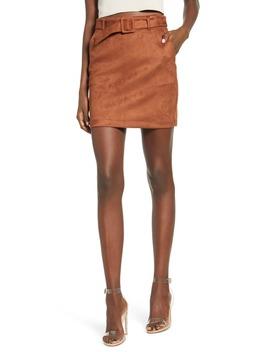 Chili Faux Suede Miniskirt by Vero Moda