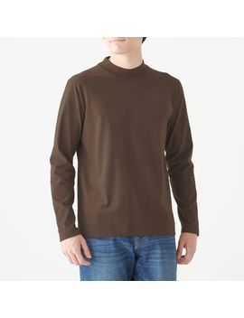 Indian Cotton Jersey Stitch High Neck Long Sleeve T Shirt by Muji