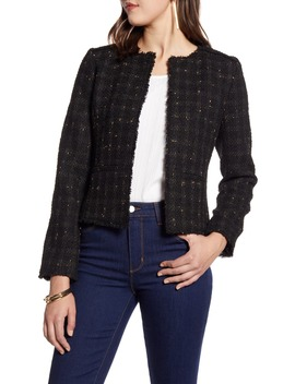 Metallic Tweed Jacket by Halogen®