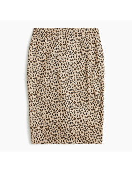 No 2. Pencil® Skirt In Leopard Bi Stretch Cotton by No 2. Pencil