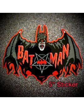 "Vampire Bat Logo 5"" Sticker ""Blood Lust"" Variant By Summo13 by Etsy"