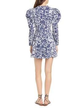 Wren Floral Long S Leeve Denim Dress by Ulla Johnson