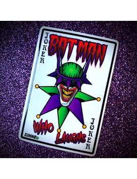 """Sticker* Joker Card Of The Batman Who Laughs Gloss Vinyl 3"""" Sticker By Summo13 by Etsy"""
