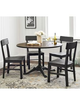 """Rae Dining Table, Rustic Wood, 32"""" by Pottery Barn"""