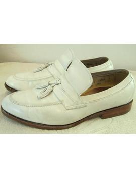 Reduced@@Men's Vintage 80's,Stylin' White All Leather Hipster Style Loafers By Allen Edmonds.9.5 C by Etsy