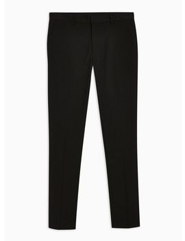 Black Super Skinny Fit Smart Trousers by Topman