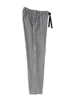 Black Checked Woven Pajama Pants by Cremieux