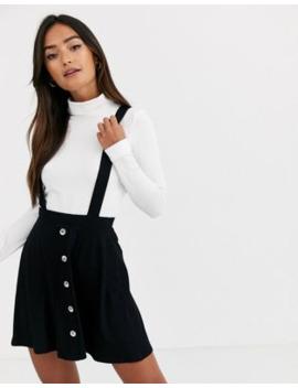 Asos Design – Förklädesklänning I Minimodell Med Knäppning Framtill by Asos Design