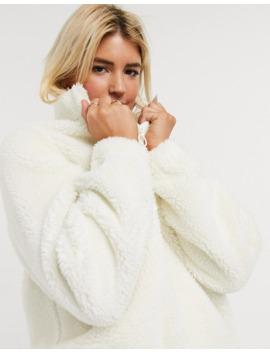 Asos Design Fleece Jacket With Half Zip by Asos Design