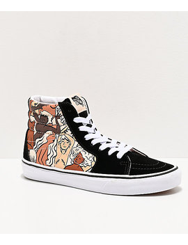 Vans Sk8 Hi Breast Cancer Awareness Black & White Skate Shoes by Vans
