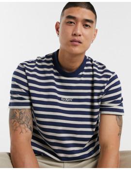 Kickers Stripe T Shirt In Blue by Kickers