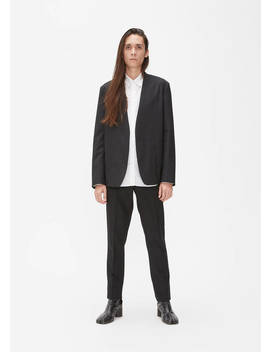 Wool Poplin Deconstructed Blazer by Maison Margiela