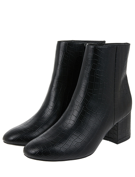Moc Croc Ankle Boots by Accessorize