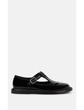 Alannis Patent Leather Mary Jane Flats by Burberry