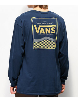 Vans Royce Dress Blues Long Sleeve T Shirt by Vans