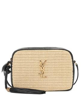 Lou Camera Raffia Crossbody Bag by Saint Laurent