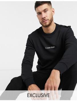Calvin Klein Asos Exclusive Central Logo Sweat In Black by Calvin Klein