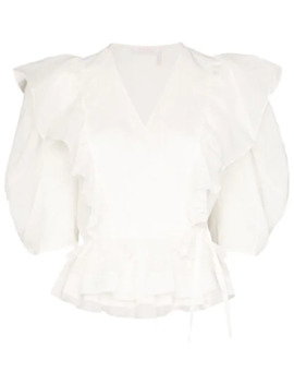 Wrap Ruffle Trim Blouse by Chloé