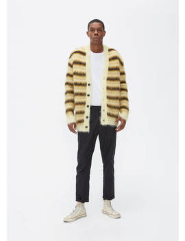 Striped Mohair Cardigan by Marni