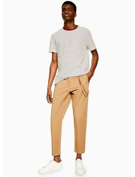 Stone Tapered Trousers With Chain by Topman
