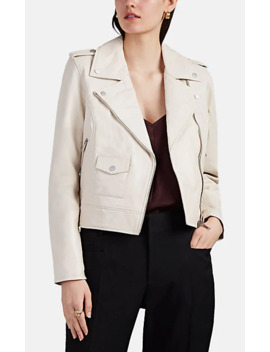 Crop Leather Moto Jacket by Barneys New York