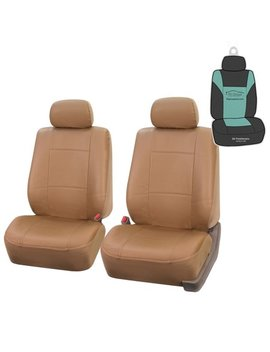 Fh Group Universal Pu Leather Front Set Seat Covers With Bonus Air Freshener by Fh Group