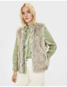 Fur Vest by Bershka