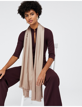 Plain Woven Scarf by Accessorize