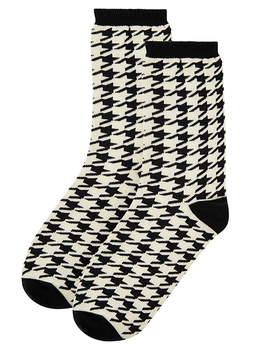 Dogtooth Mono Ankle Socks by Accessorize