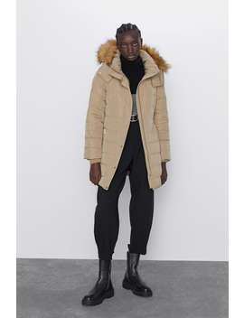 Water Repellent Hooded Down Puffer Jacket by Zara