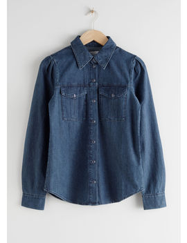 Organic Cotton Button Up Denim Shirt by & Other Stories