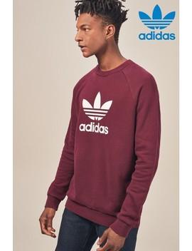 Adidas Originals Burgundy Trefoil Crew by Next
