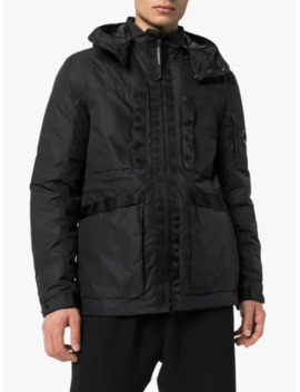 Black Goggle Hood Padded Jacket by Cp Company