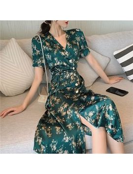 Alfie   Floral Short Sleeve Wrap Dress by Alfie