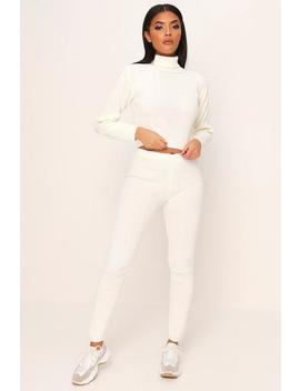 Ribbed Roll Neck Loungewear Set by I Saw It First
