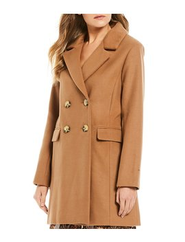Notch Collar Double Breasted Coat by Gb