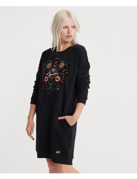 Embellished Rodeo Sweat Dress by Superdry