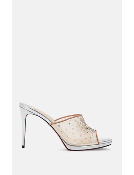 Violas Mesh & Patent Leather Mules by Christian Louboutin