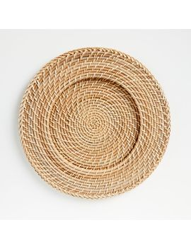 Artesia Natural Rattan Charger Plate by Crate&Barrel