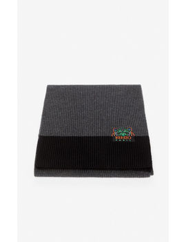 'holiday Capsule' Two Tone Tiger Scarf by Kenzo